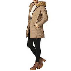 Dorothy Perkins - Mink luxe faux fur puadded jacket