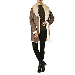 Dorothy Perkins - Contrast faux shearling coat