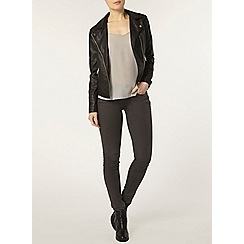 Dorothy Perkins - Black quilt cuff biker jacket