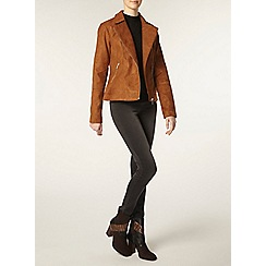 Dorothy Perkins - Tall faux suede biker jacket