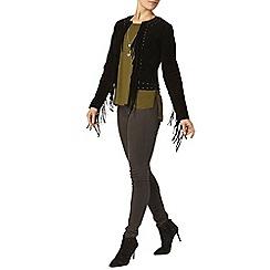 Dorothy Perkins - Premium black suede jacket