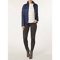 Dorothy Perkins - Navy padded jacket with bag