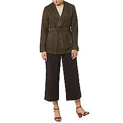 Dorothy Perkins - Khaki obi suedette jacket