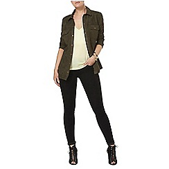 Dorothy Perkins - Khaki suedette safari shacket