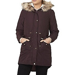 Dorothy Perkins - Fig high shine trim parka
