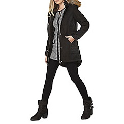 Dorothy Perkins - Charcoal twill padded coat