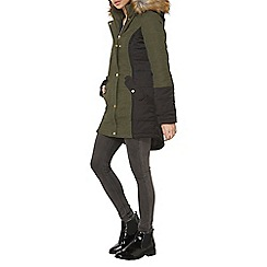 Dorothy Perkins - Khaki twill padded coat