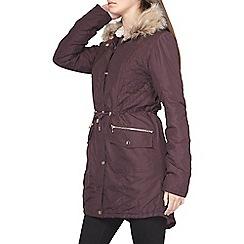 Dorothy Perkins - Tall fig shine trim parka coat