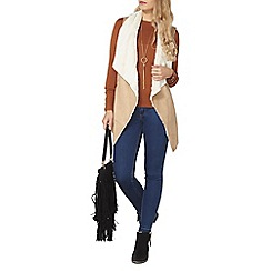 Dorothy Perkins - Belted faux shearling gilet
