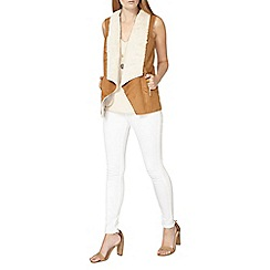 Dorothy Perkins - Tan zip shearling gilet