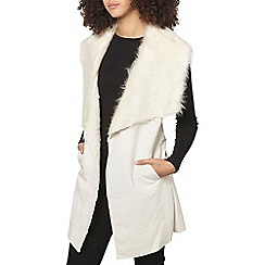 Dorothy Perkins - Tall longline faux fur gilet