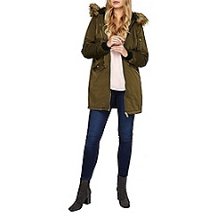 Dorothy Perkins - Khaki luxe bomber parka coat