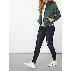 Dorothy Perkins - Green diamond quilted bomber jacket
