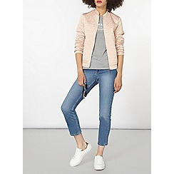 Dorothy Perkins - Blush quilted bomber jacket