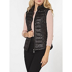 Dorothy Perkins - Black high collar pack-a-gilet