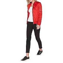 Dorothy Perkins - Red diamond quilted bomber jacket