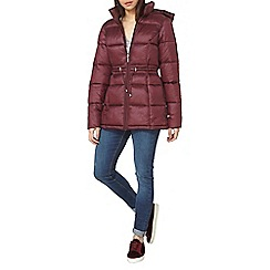 Dorothy Perkins - Berry stitched padded coat
