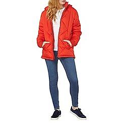 Dorothy Perkins - Red riri diamond padded coat