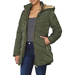 Dorothy Perkins - Green chevron padded coat