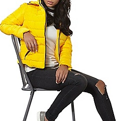 Dorothy Perkins - Yellow short tip padded coat