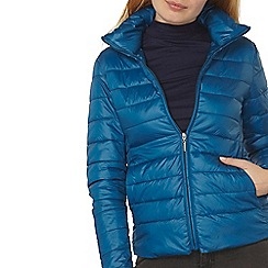 Dorothy Perkins - Teal high collar padded jacket