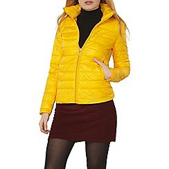 Dorothy Perkins - Yellow high collar padded jacket