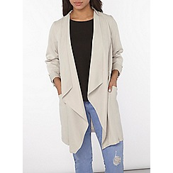 Dorothy Perkins - Longline drawstring throw on jacket