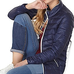 Dorothy Perkins - Navy quilt pack-a-jacket