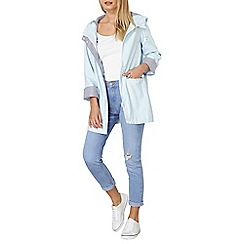 Dorothy Perkins - Pale blue button raincoat