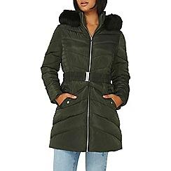 Dorothy Perkins - Khaki belt padded jacket