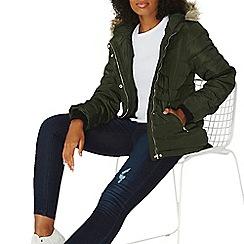 Dorothy Perkins - Alpine faux fur hood padded jacket