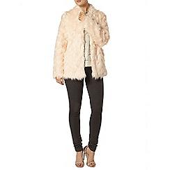 Dorothy Perkins - Pink faux fur long line coat