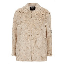 Dorothy Perkins - Tall biscuit faux fur coat