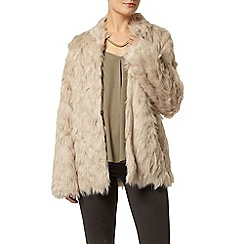 Dorothy Perkins - Blonde long line faux fur coat