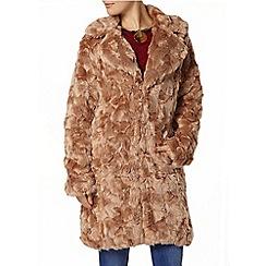 Dorothy Perkins - Mink faux fur boyfriend coat