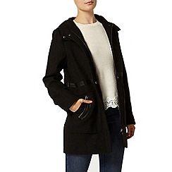 Dorothy Perkins - Black bonded duffle coat
