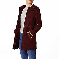 Dorothy Perkins - Port bonded duffle coat