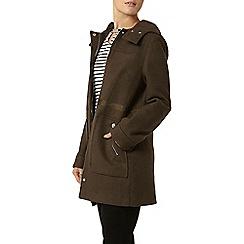 Dorothy Perkins - Khaki bonded duffle coat
