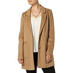 Dorothy Perkins - Camel brushed crombie jacket