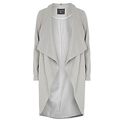 Dorothy Perkins - Tall grey waterfall coat
