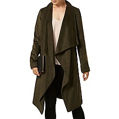 Dorothy Perkins - Khaki brushed waterfall jacket