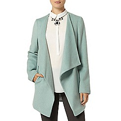 Dorothy Perkins - Mint waterfall front coat