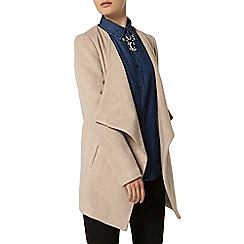 Dorothy Perkins - Blonde short waterfall coat