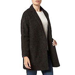 Dorothy Perkins - Charcoal boiled wool crombie coat