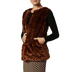 Dorothy Perkins - Ginger carved faux fur gilet