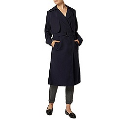 Dorothy Perkins - Navy long line mac