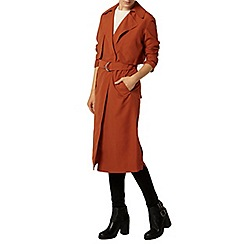 Dorothy Perkins - Rust long line mac