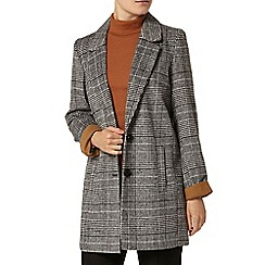 Dorothy Perkins - Charcoal check boufriend coat