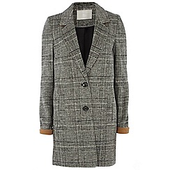 Dorothy Perkins - Tall charcoal check coat