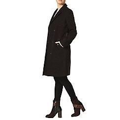 Dorothy Perkins - Black d ring trench coat